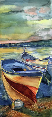 Painting - Golden Boats by Lynne Atwood