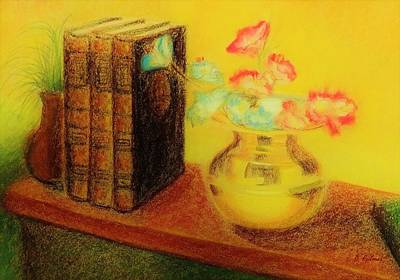 Drawing - Golden Books by Denise Fulmer