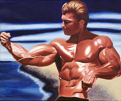 Bodybuilding Painting - Golden Boy by Arturo Castro