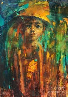 Golden Boy Art Print by Michal Kwarciak