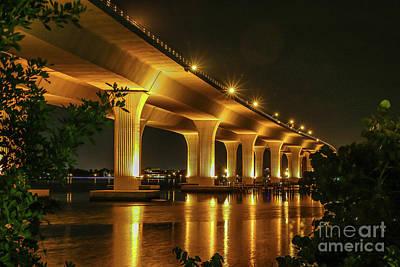 St. Lucie River Photograph - Golden Bridge by Tom Claud