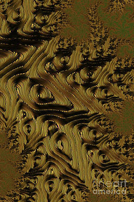 Surrealism Digital Art Rights Managed Images - Golden Brown Royalty-Free Image by Steve Purnell