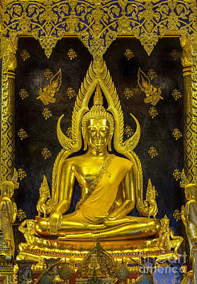 Golden Buddha  Art Print by Anek Suwannaphoom