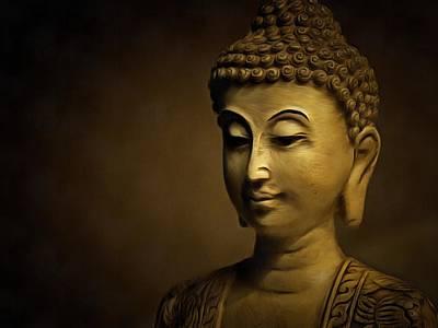 Large Buddha Painting - Golden Buddha Art - Contemporary Spiritual Buddhist Painting by Wall Art Prints