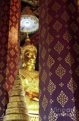 Golden Buddha Print by Buchachon Petthanya