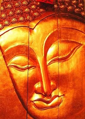 Photograph - Golden Buddha by Elizabeth Hoskinson