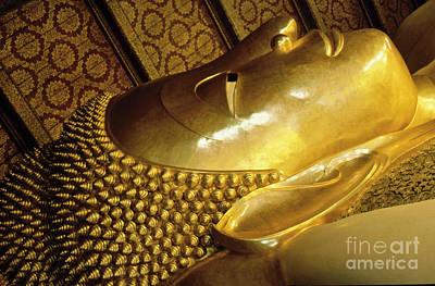 Photograph - Golden Buddha Face by Heiko Koehrer-Wagner