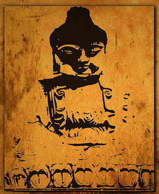 Budda Mixed Media - Golden Buddha by Kandy Hurley