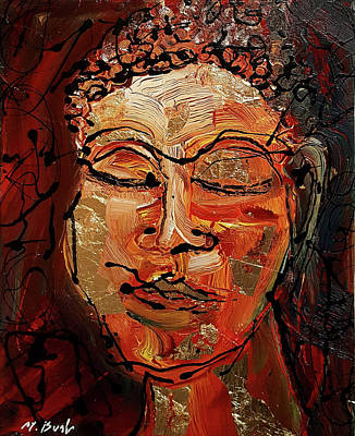 Painting - Golden Buddha by Martin Bush