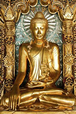 Photograph - Golden Buddha by Michele Burgess