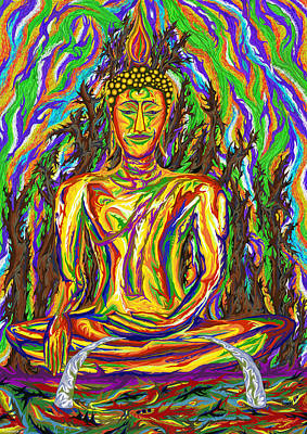 Painting - Golden Buddha by Robert SORENSEN