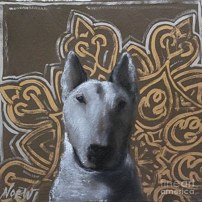 English Bull Terrier Painting - Golden Bully by Jindra Noewi