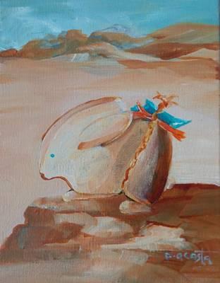 Navaho Painting - Golden Bunny Guide by Paula Acosta