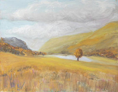 Painting - Golden Buttermere by Kathryn Bell