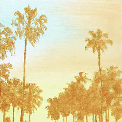 Painting - Golden California by Masha Batkova
