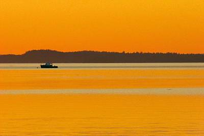 Photograph - Golden Calm by Polly Castor