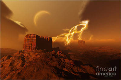 Thunder Painting - Golden Canyon by Corey Ford