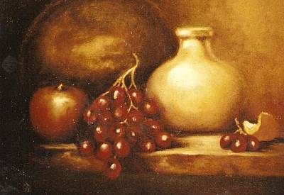 Painting - Golden Carafe by Jordana Sands