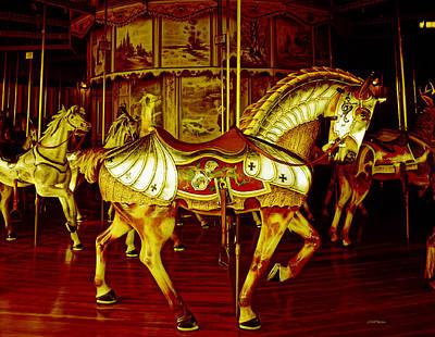 Photograph - Golden Carousel Horse by Ericamaxine Price