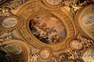 Lourve Photograph - Golden Ceiling by Chris Brewington Photography LLC