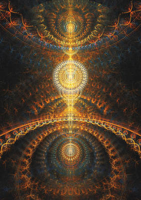 Digital Art - Golden Chakra by Martin Capek