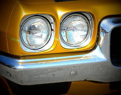 Photograph - Golden Chevy by Kimberly-Ann Talbert