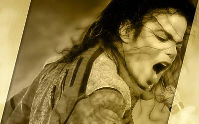 Michael Jackson Mixed Media - Golden Child Michael Jackson by Marvin Blaine