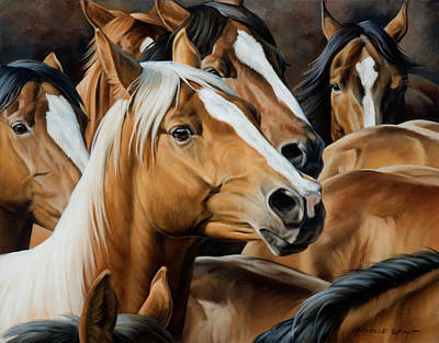 Equestrian Painting - Golden Child by JQ Licensing