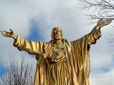Photograph - Golden Christ by Ed Weidman