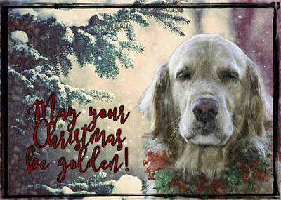 Snowy Golden Retriever Photograph - Golden Christmas by Nancy Forehand Photography
