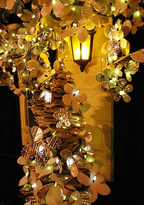 Photograph -  Golden Christmas Tree by Jacqueline M Lewis
