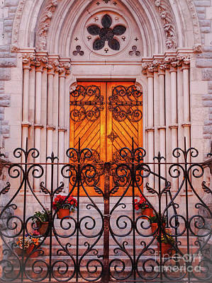 Golden Church Door Art Print