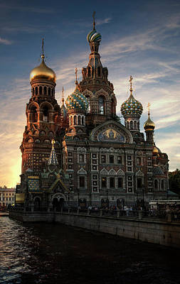 Photograph - Golden Church by Jaroslaw Blaminsky
