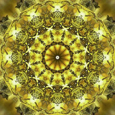 Digital Art - Golden Circle by Frans Blok