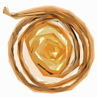 Digital Art - Golden Circular Spin by Kirt Tisdale