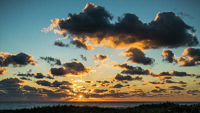 Photograph - Golden Cloud Sunrise Delray Beach Florida by Lawrence S Richardson Jr