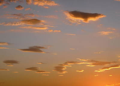 Photograph - Golden Clouds by Stephanie Moore