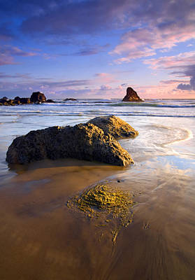 Golden Coast Print by Mike  Dawson