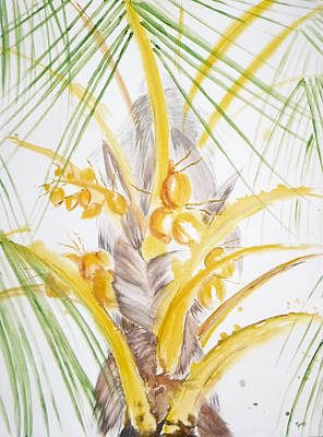 Painting - Golden Coconuts by Kathryn Rone