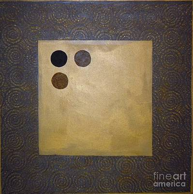 Mixed Media - Golden Coin  by Marlene Burns