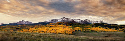 Mountain Royalty-Free and Rights-Managed Images - Golden Colorado Panorama by Andrew Soundarajan