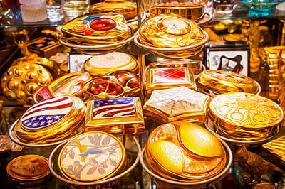 Digital Art - Golden Compacts by SR Green