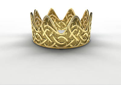 Golden Crown With Thorn Patterns Art Print