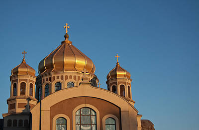 Photograph - Golden Cupolas  by Tatiana Travelways
