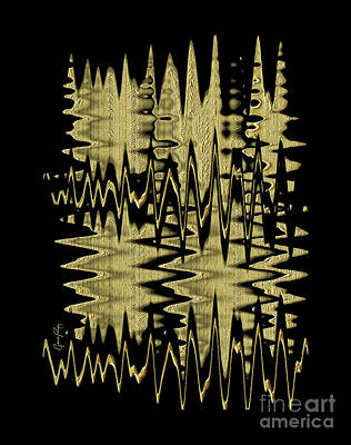 Digital Art - Golden Curves by Gabriele Pomykaj