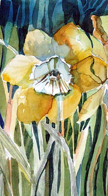 Golden Daffodil Art Print by Mindy Newman