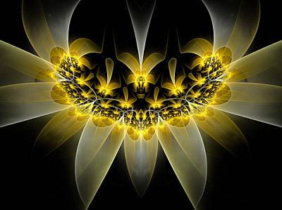 Daffodils Digital Art - Golden Daffodils by Amorina Ashton