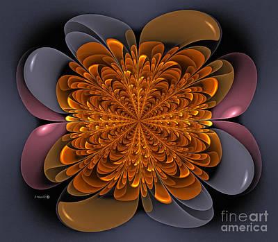 Dandelion Digital Art - Golden Dandelion by Shari Nees