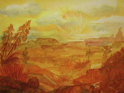 Golden Dawn Art Print by Ellen Levinson