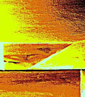 Digital Art - Golden Days Abstract by VIVA Anderson
